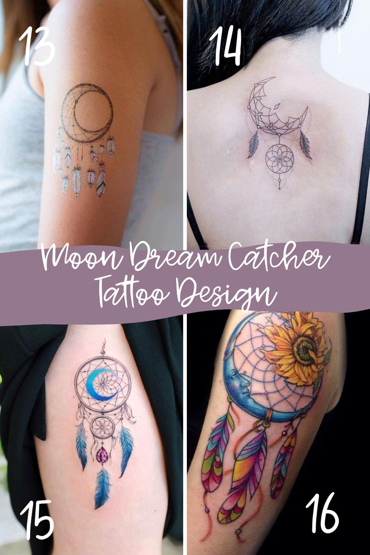 Moon Dream Catcher Tattoo Designs