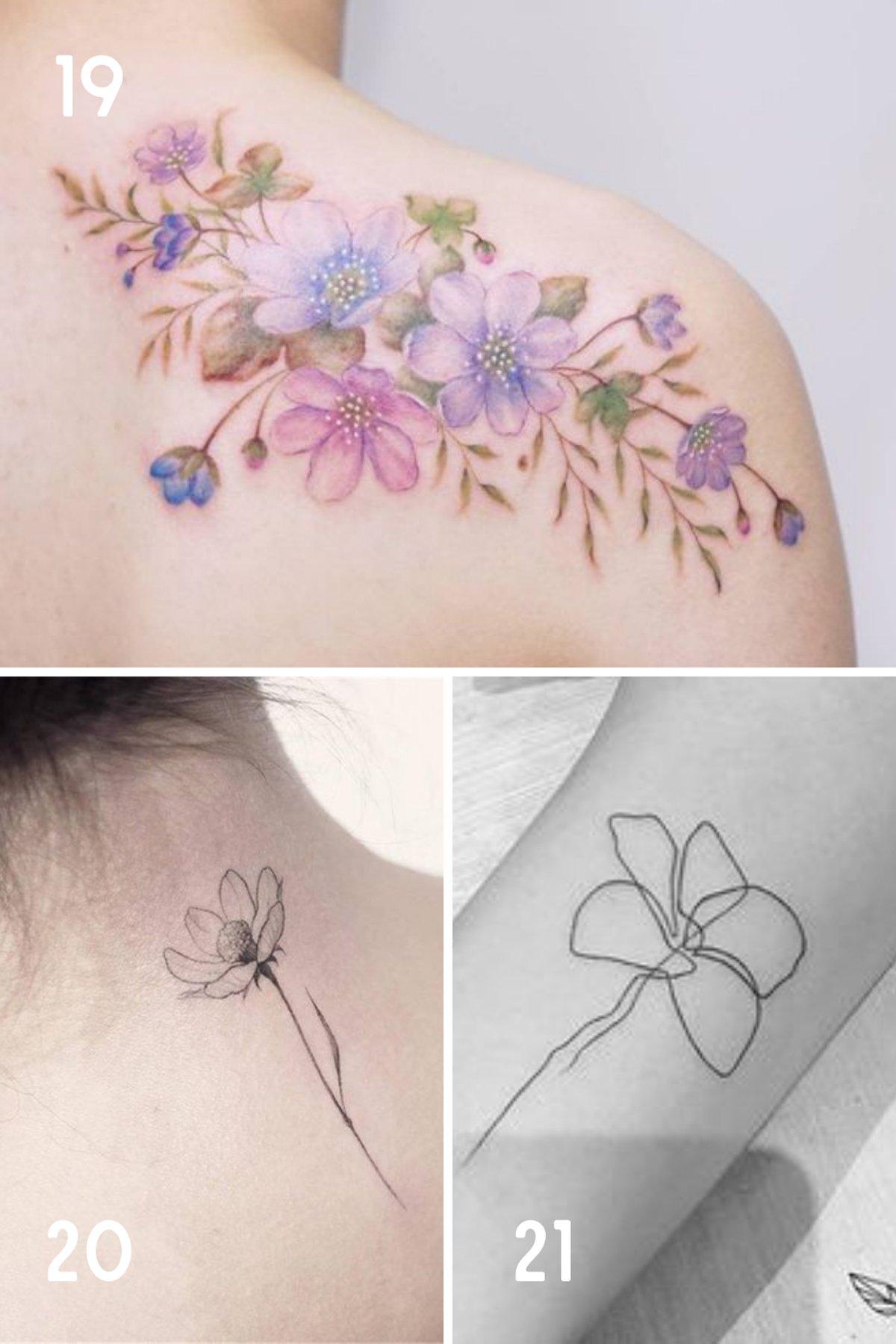 October Birthday Flower Tattoo Ideas
