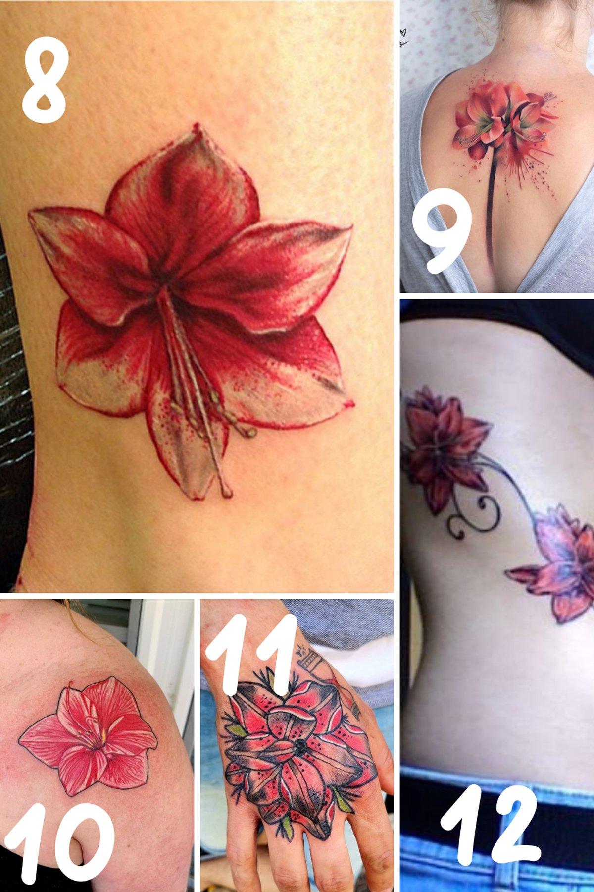 Red Flower Tattoo
