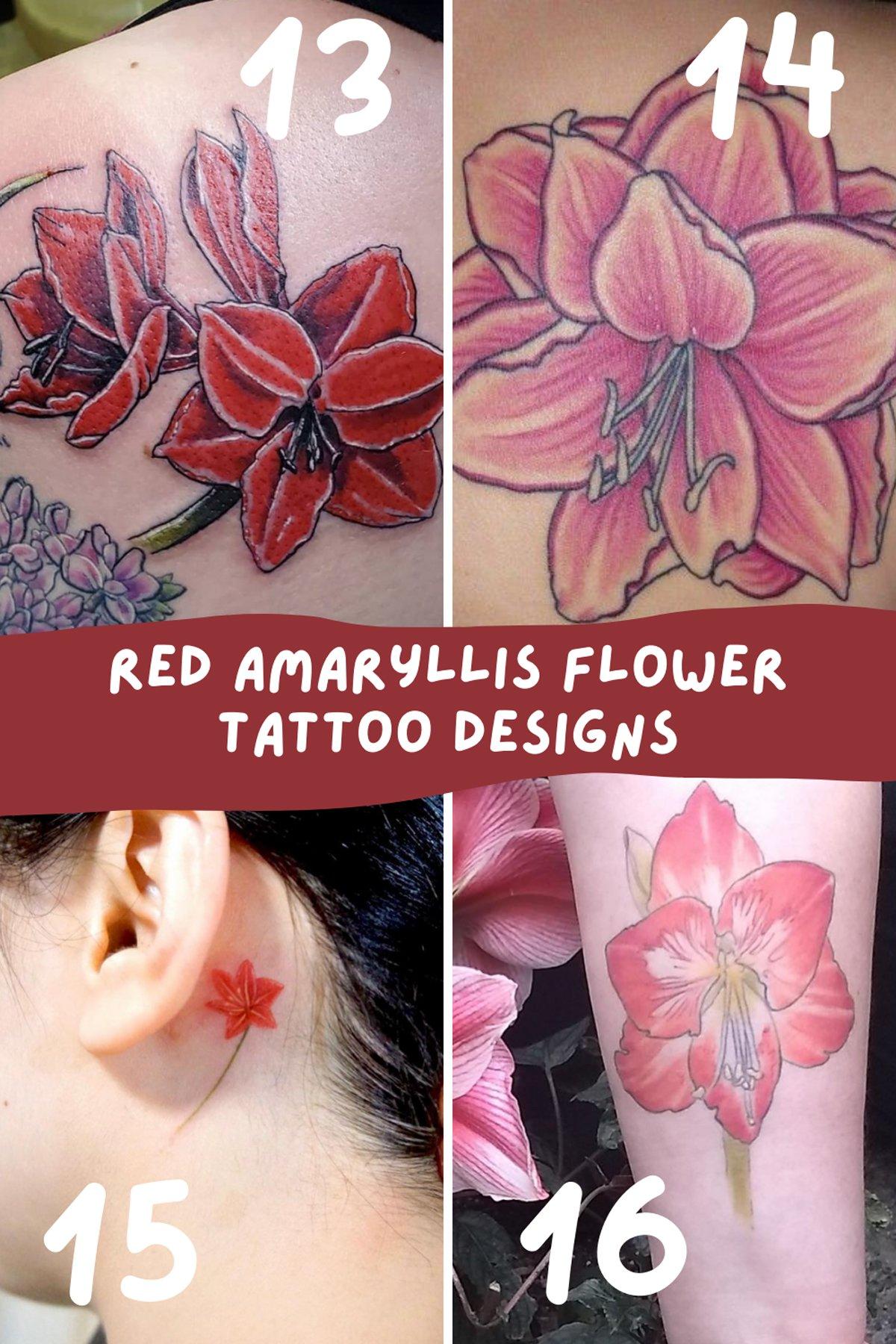 Amaryllis bouquet Flower Tattoos