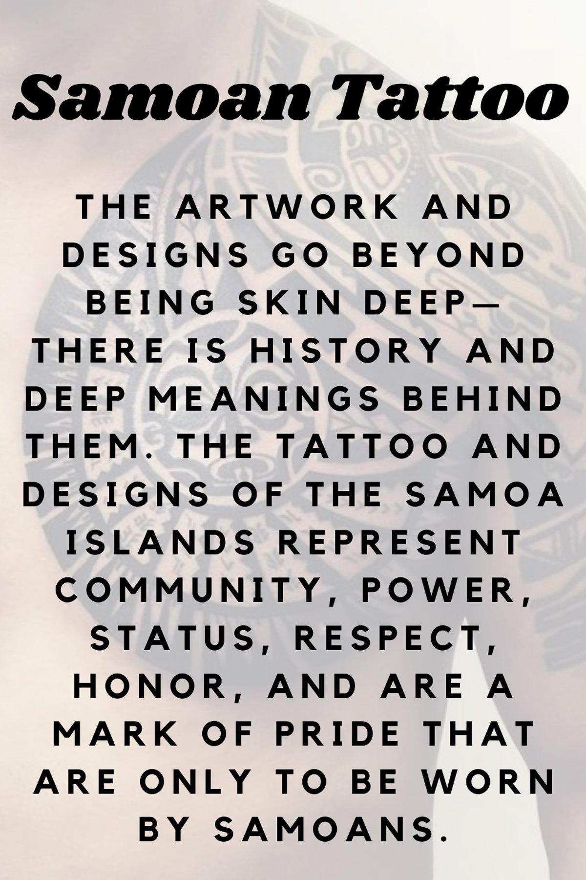 Samoan Tattoo Definition