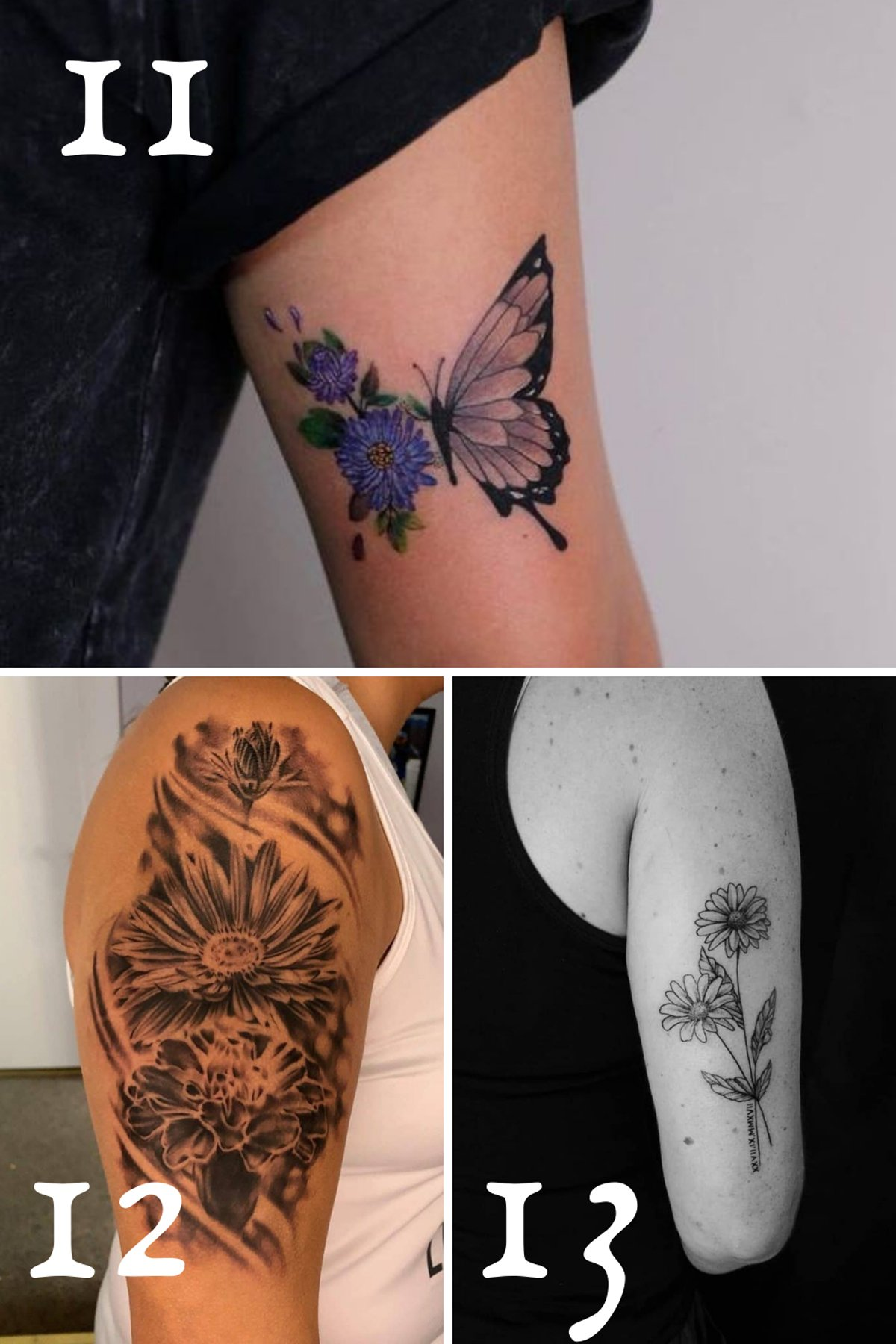 September Birth Tattoo Aster Designs