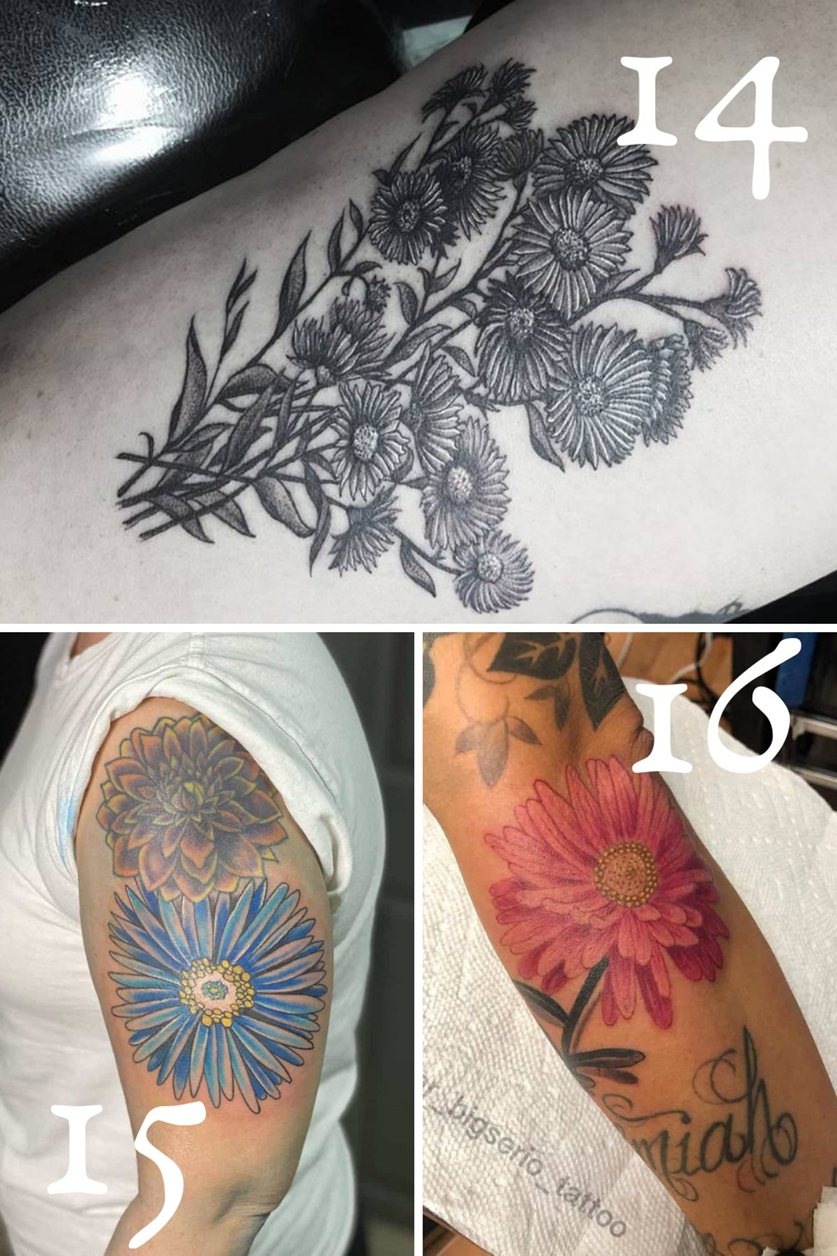 Large Floral Tattoo Design