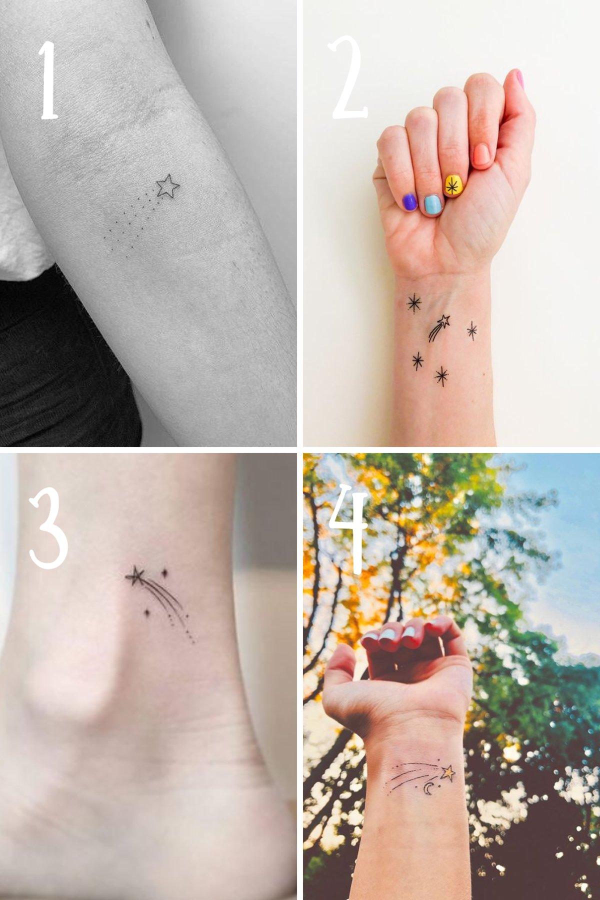 Shooting Star Tattoos Ideas