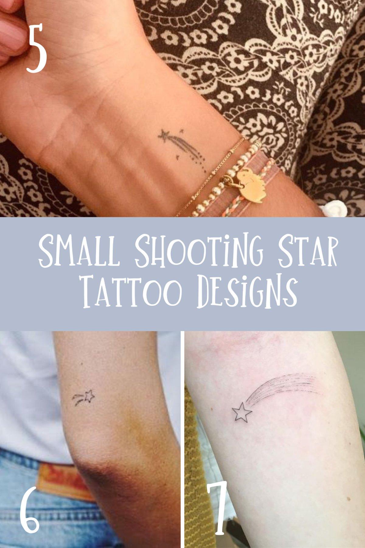 Small Shooting Star Design