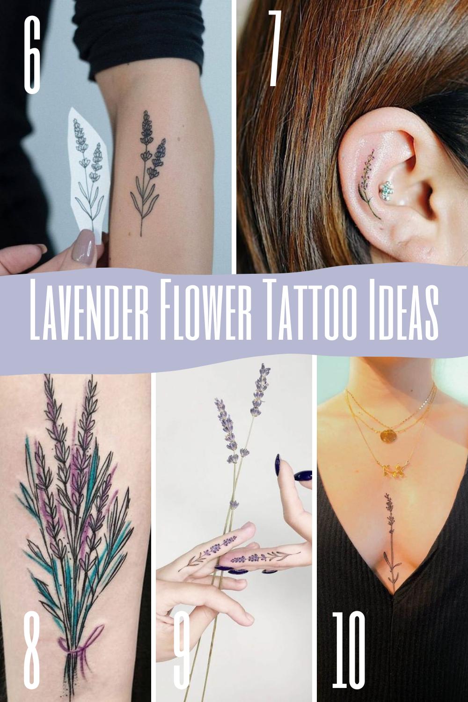 Lavender Flower Tattoo Ideas