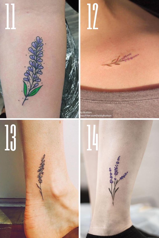 Purple Floral Ink Designs