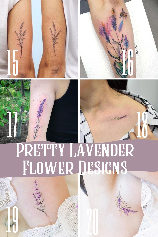Pretty Floral Ideas Lavender Tattoos