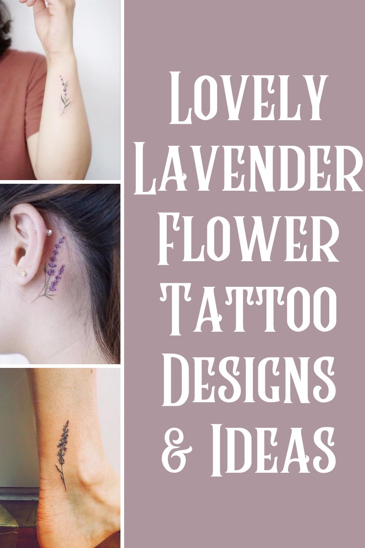 Lavender Flower Tattoo designs