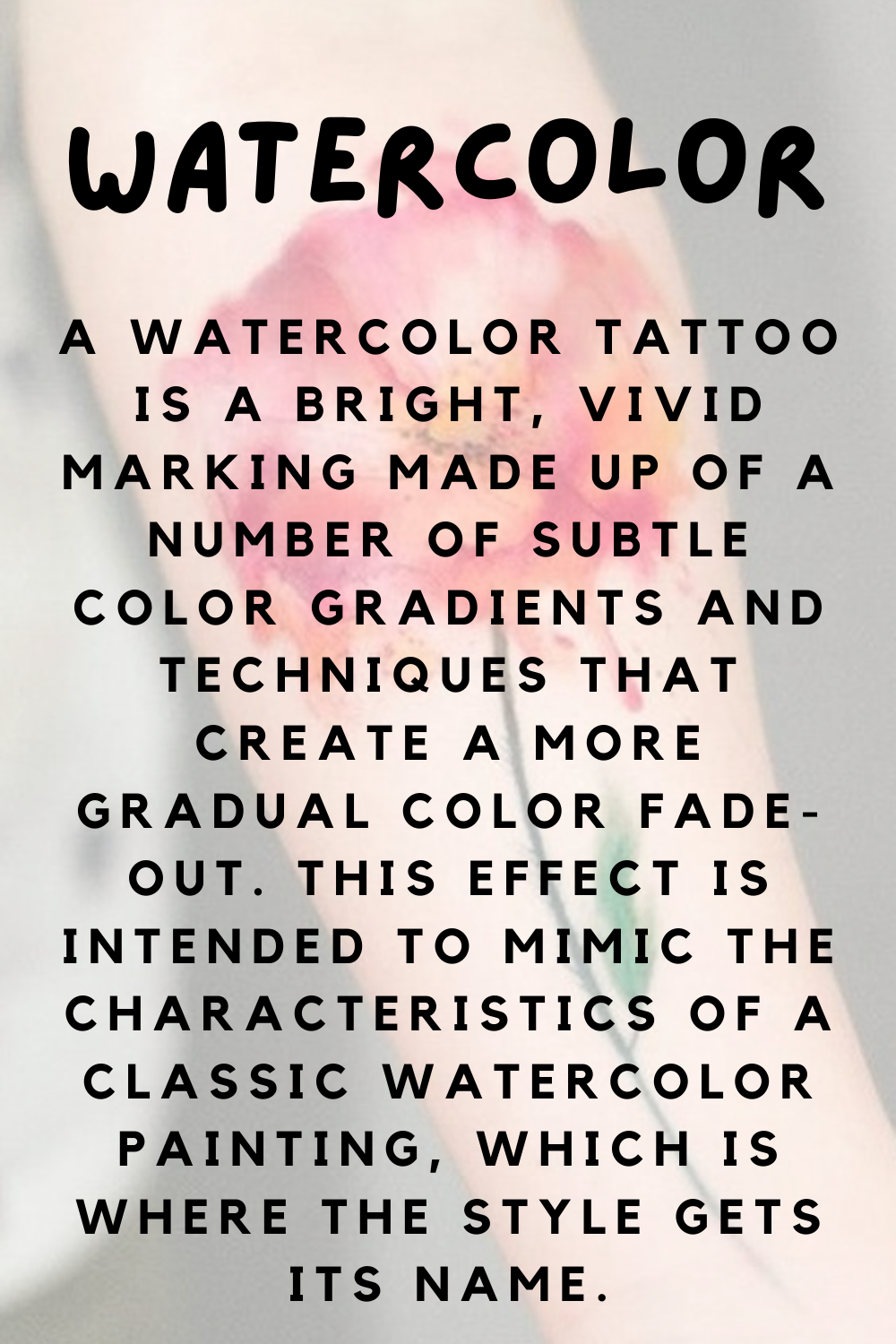 Watercolor Tattoo Dictionary