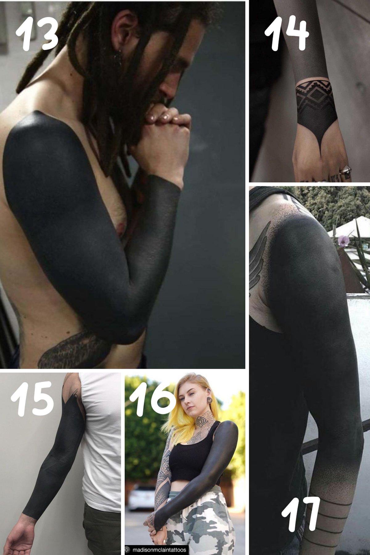All Black Tattoo Sleeve