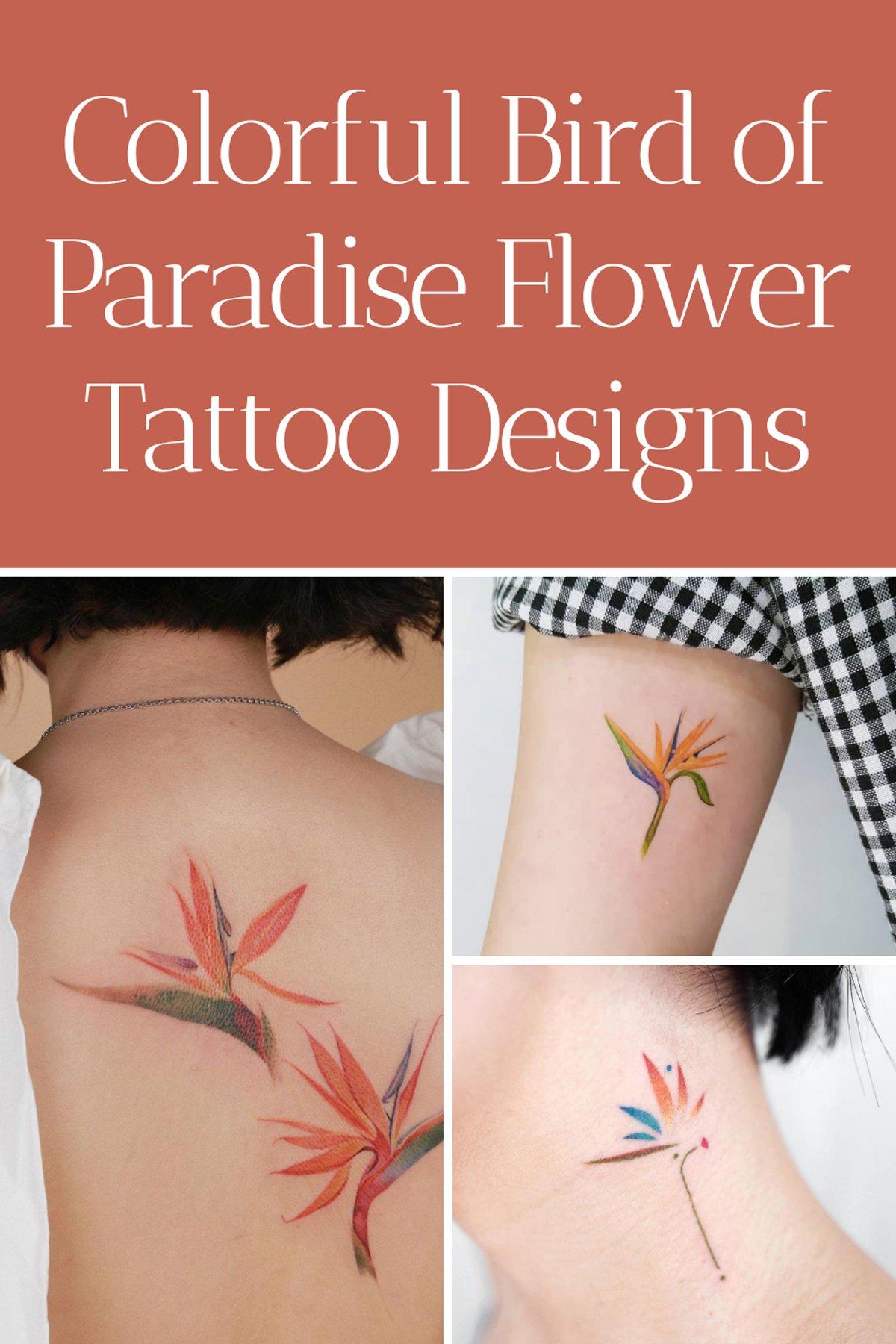 Bird of Paradise Flower Tattoo