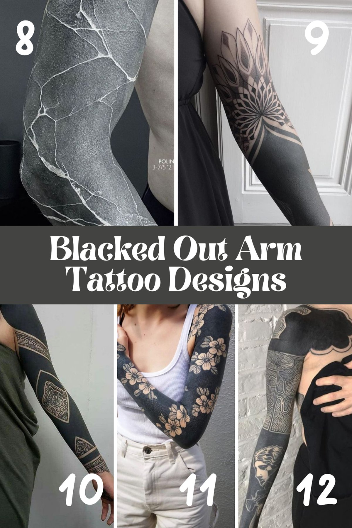 All Black Tattoo Design For Arms