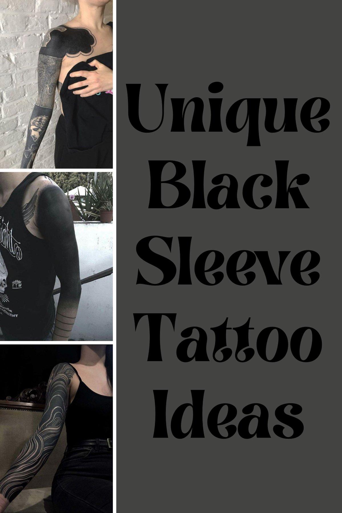 Blackout Tattoo Design
