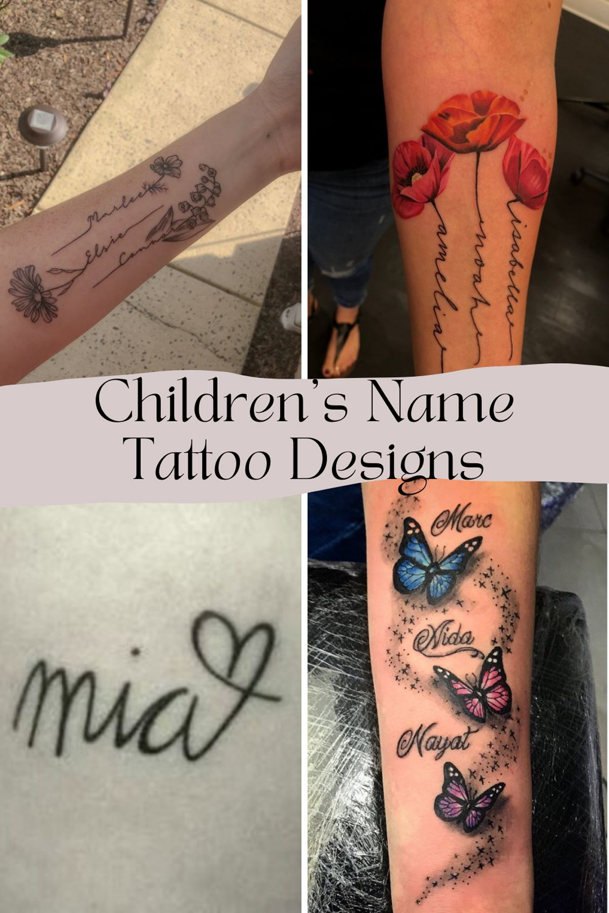 Childrens Name Tattoo Designs