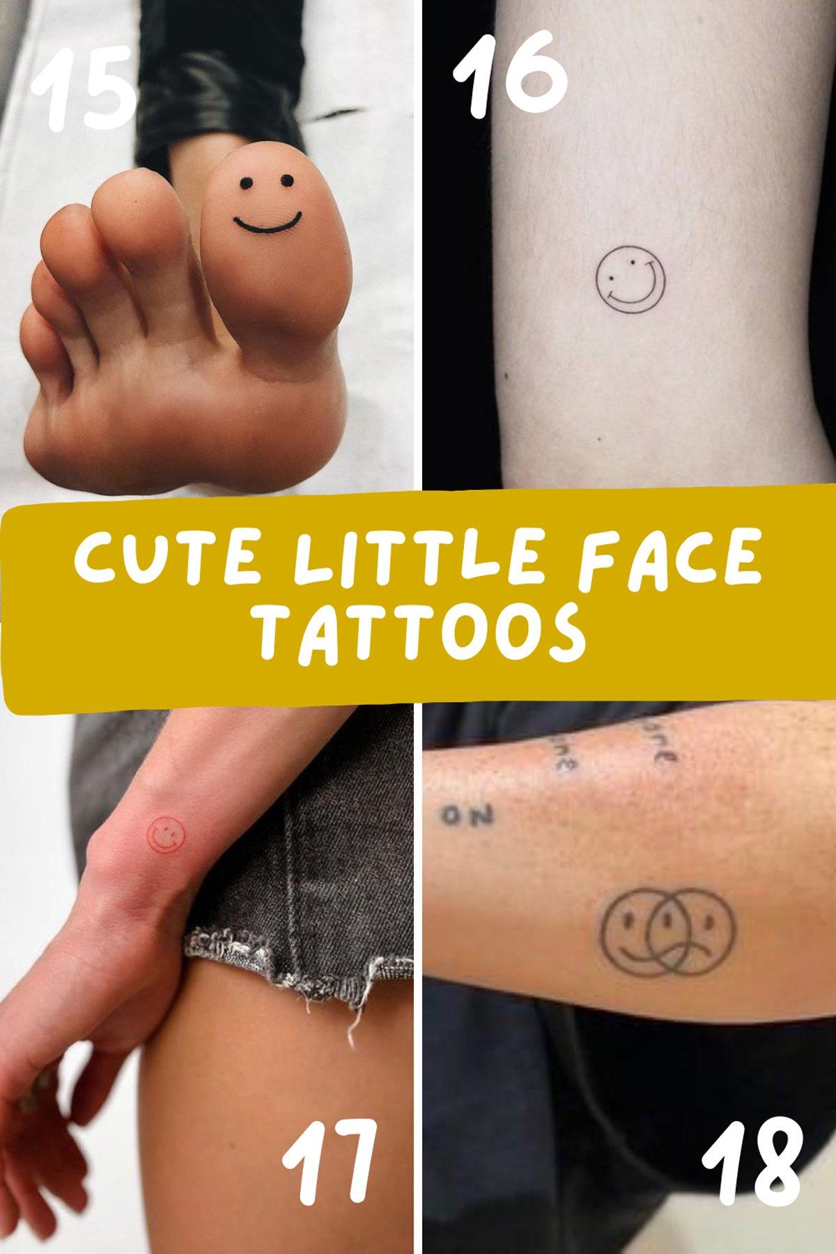 Cute Little Face Tattoos