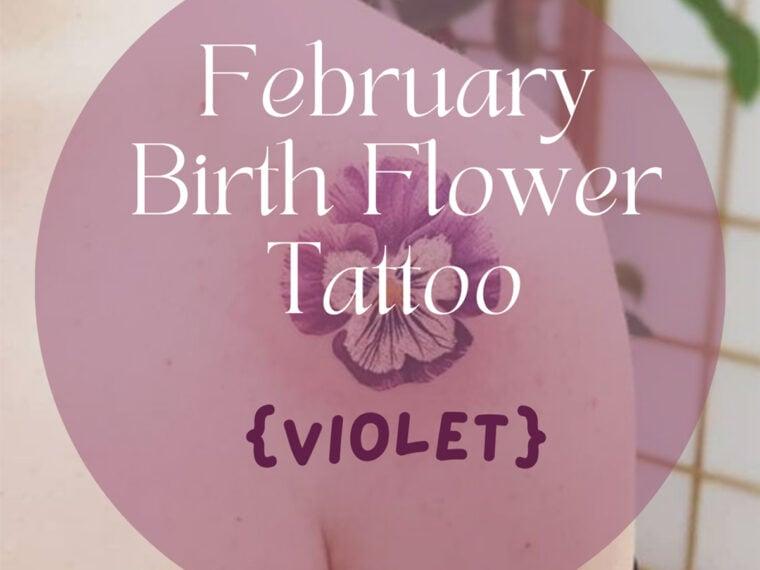 February Birth Flower Designs