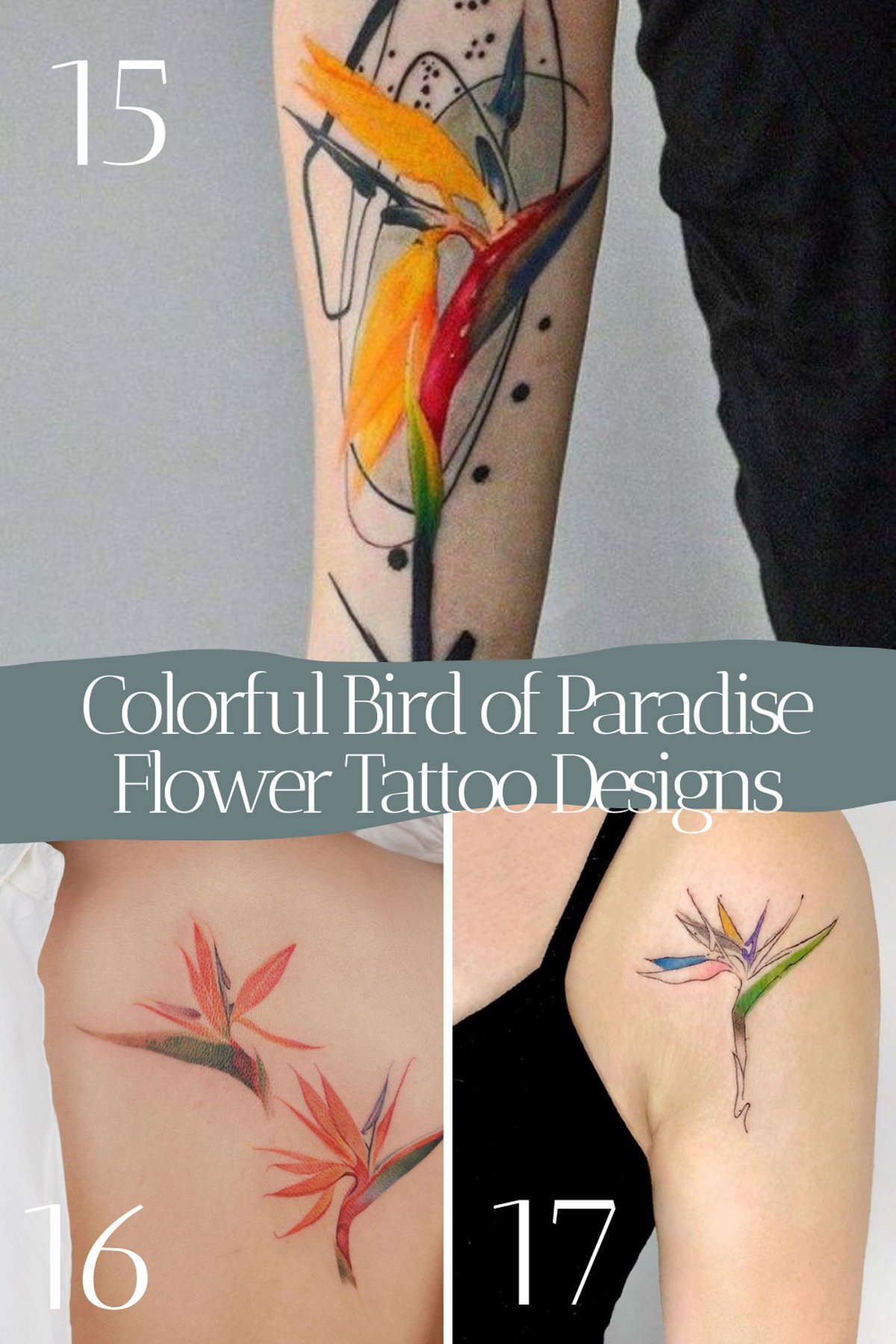 Colorful Flower Tattoo Sleeves
