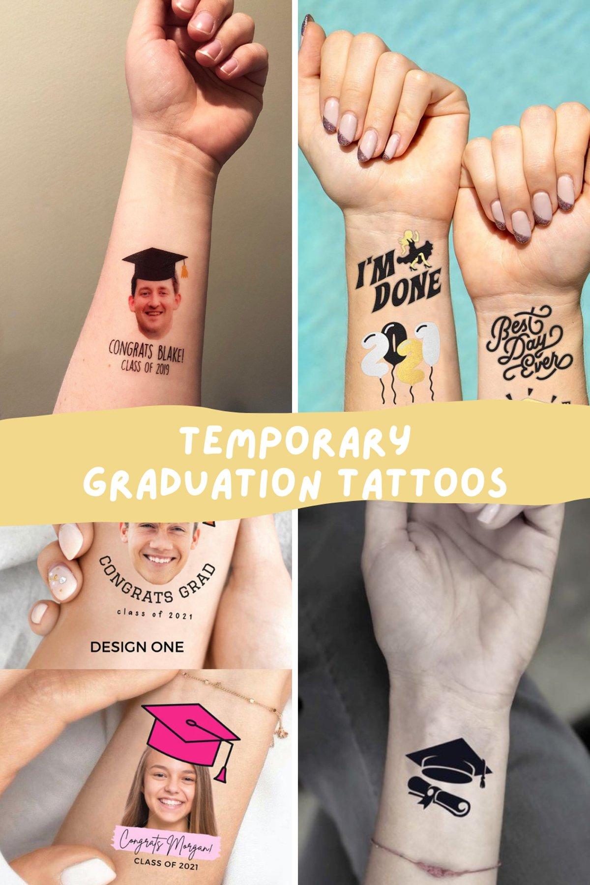 Temporary Graduation Tattoos