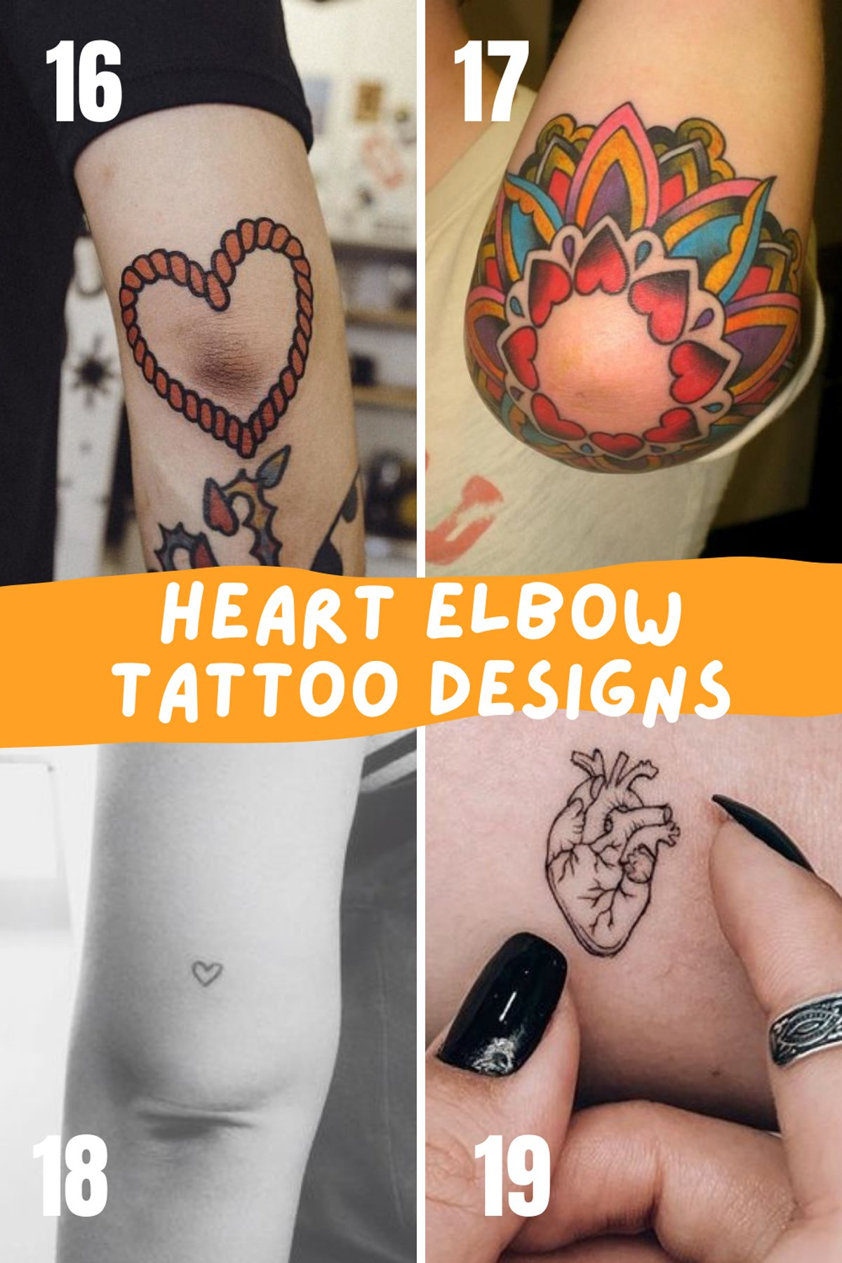 Heart Tattoos For Elbows