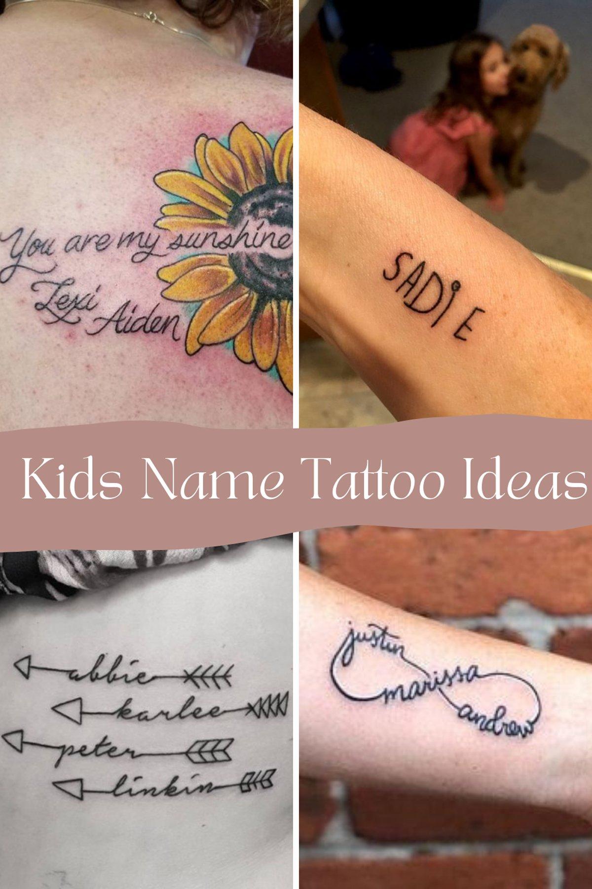 Kids Name Tattoo Ideas