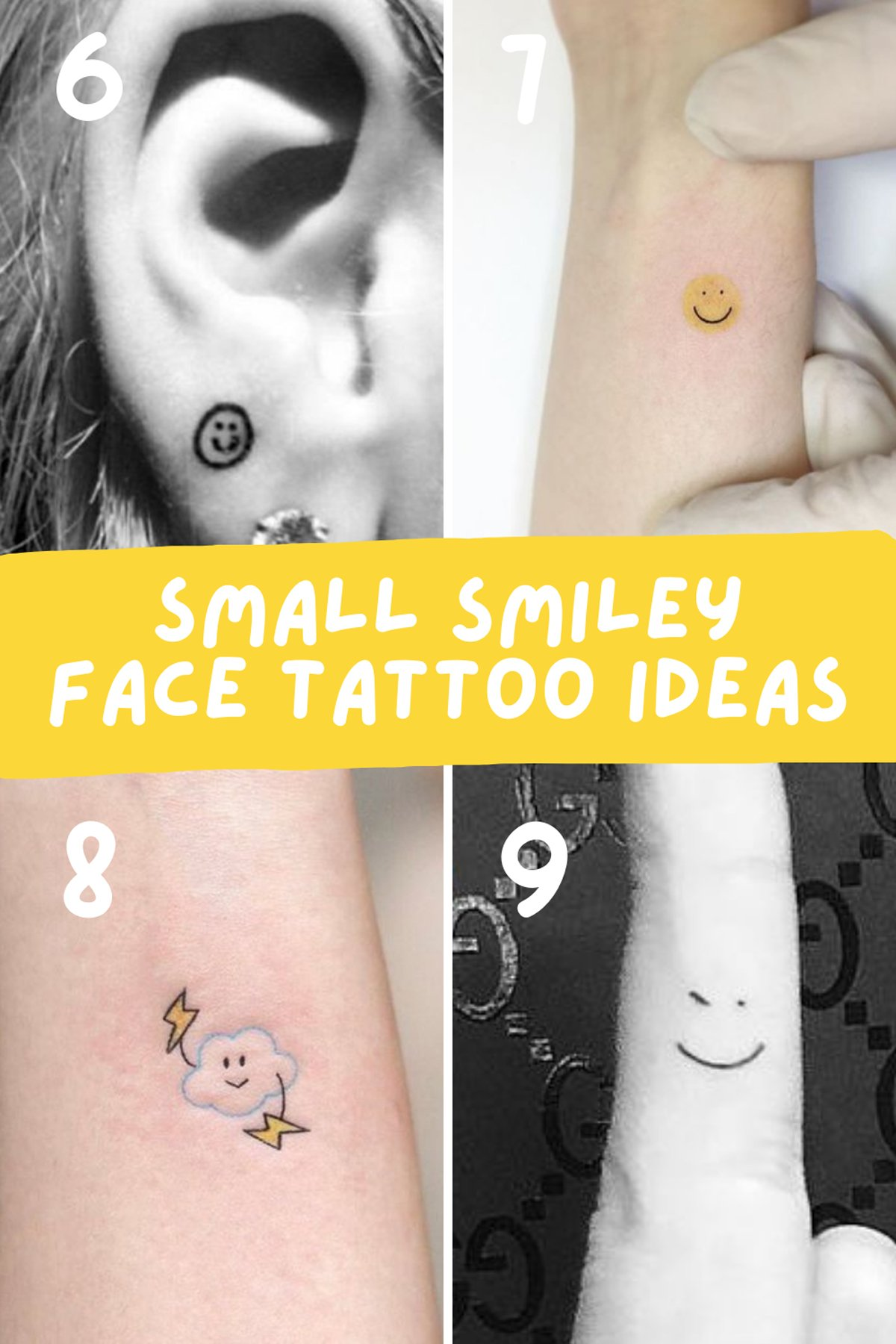 Little Tattoo Designs of smiles