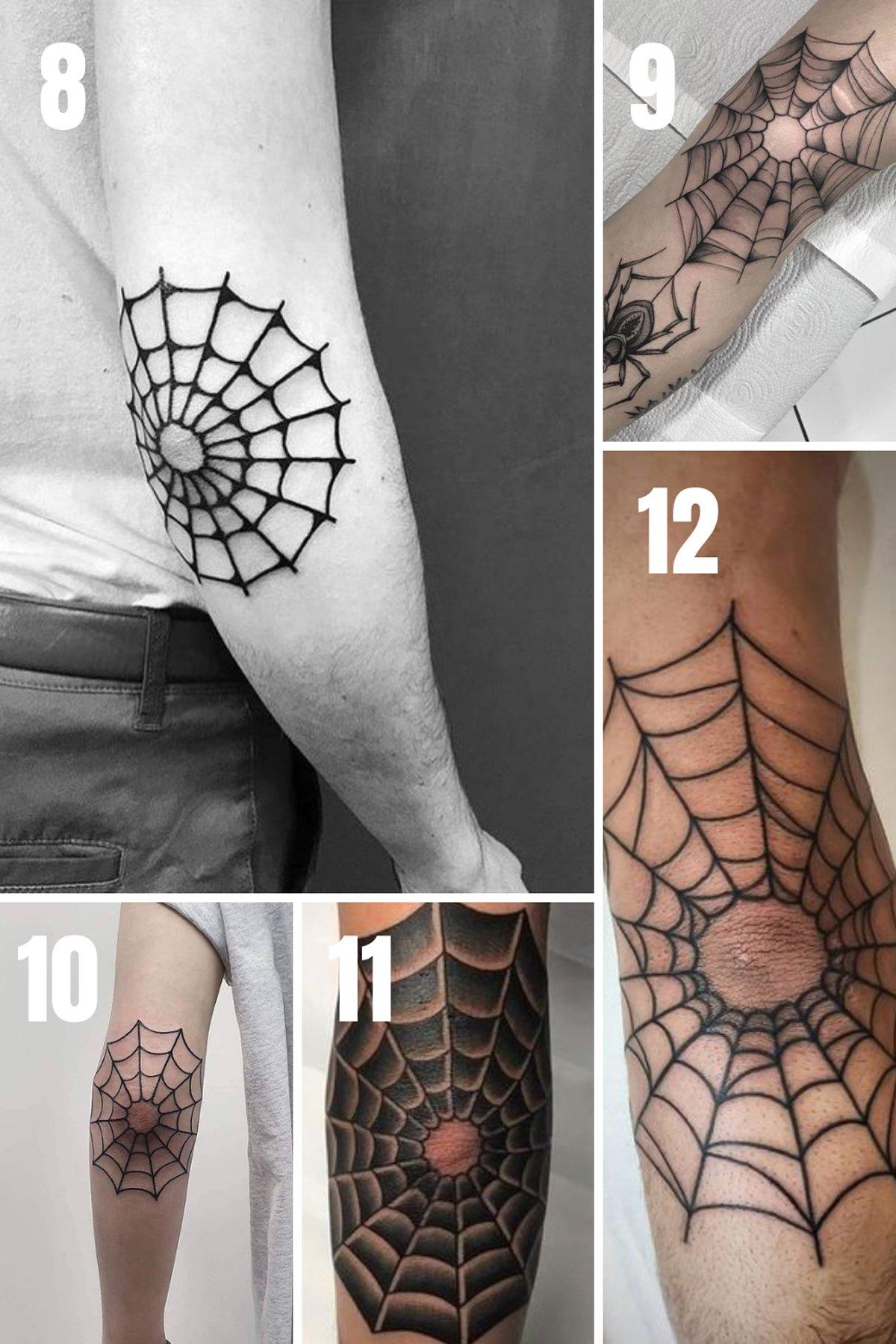 Spider Elbow Tattoos