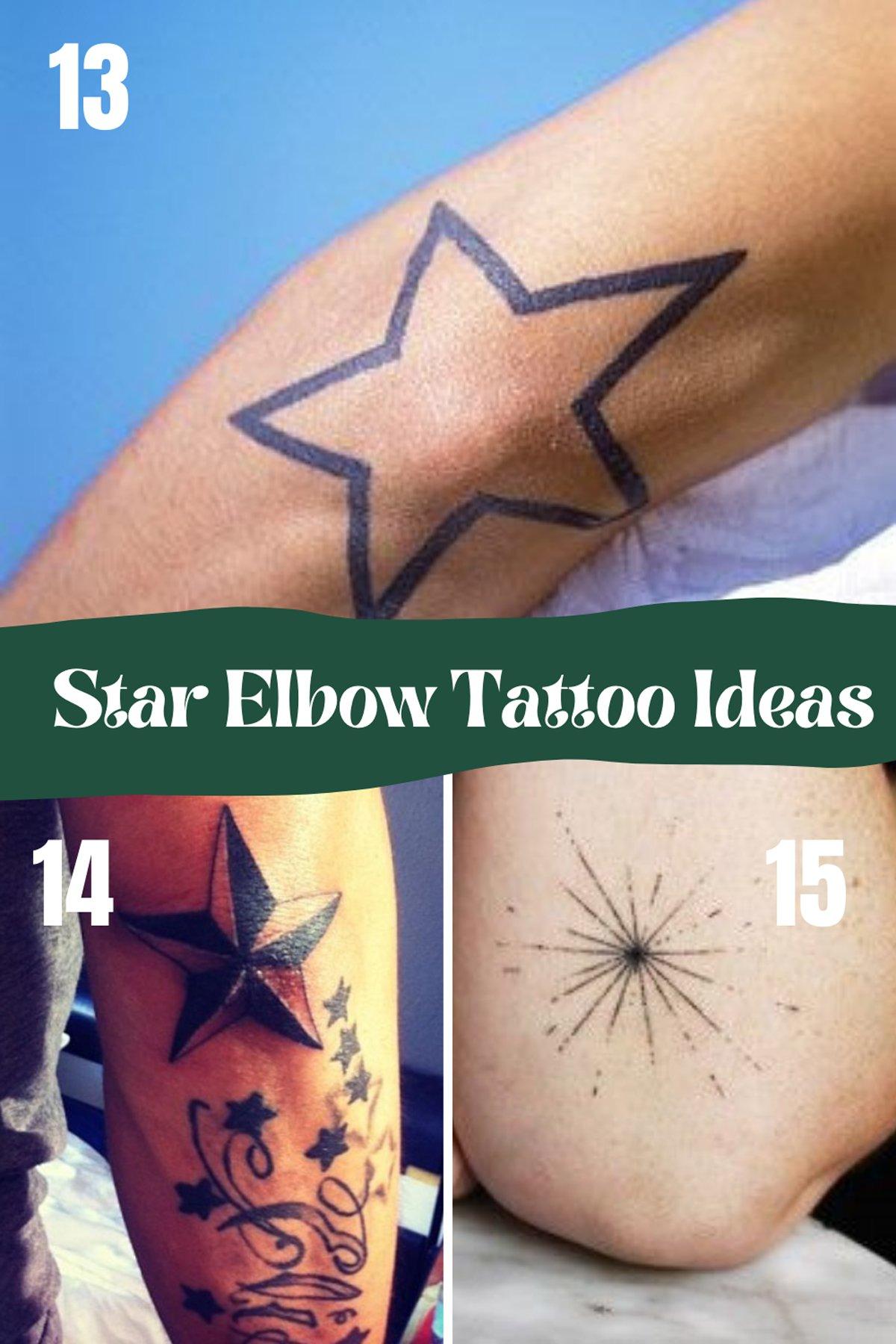Star Elbow Tattoos