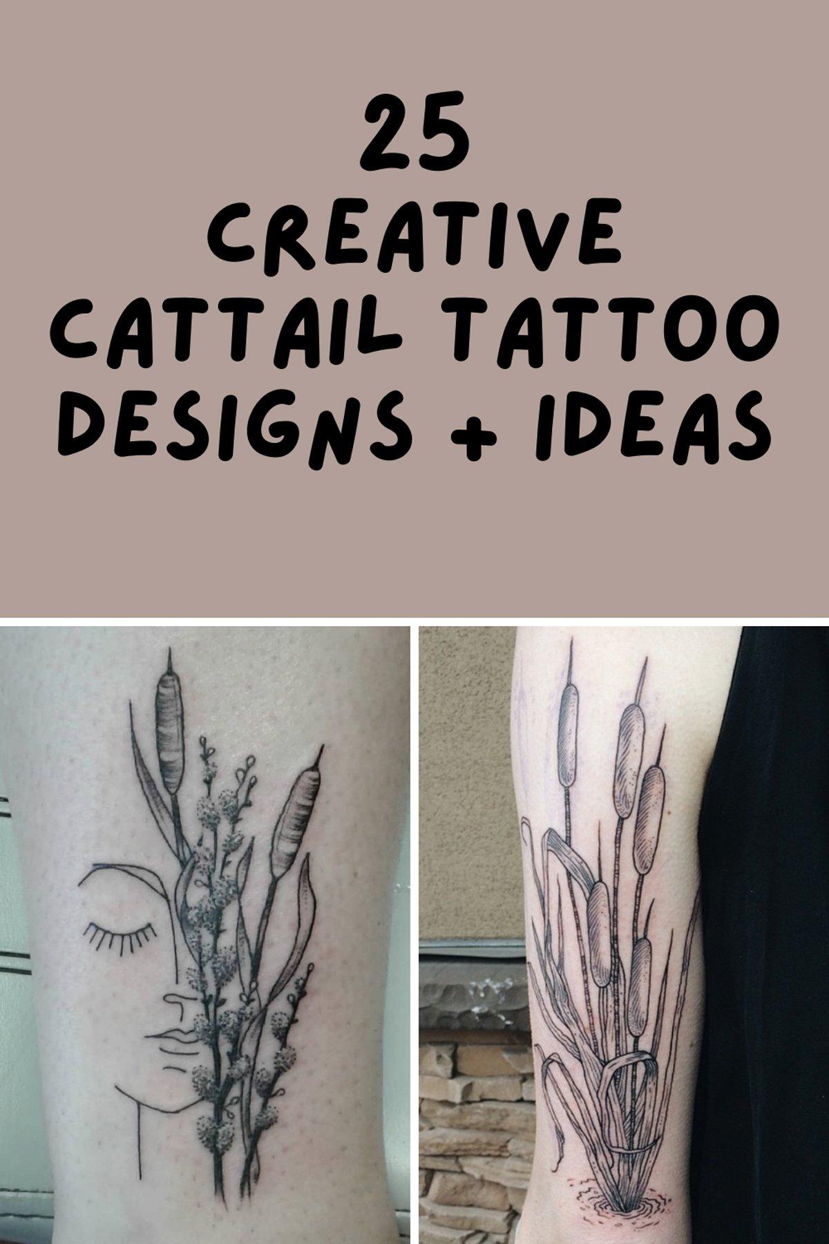 Creative Cattail Tattoo Designs