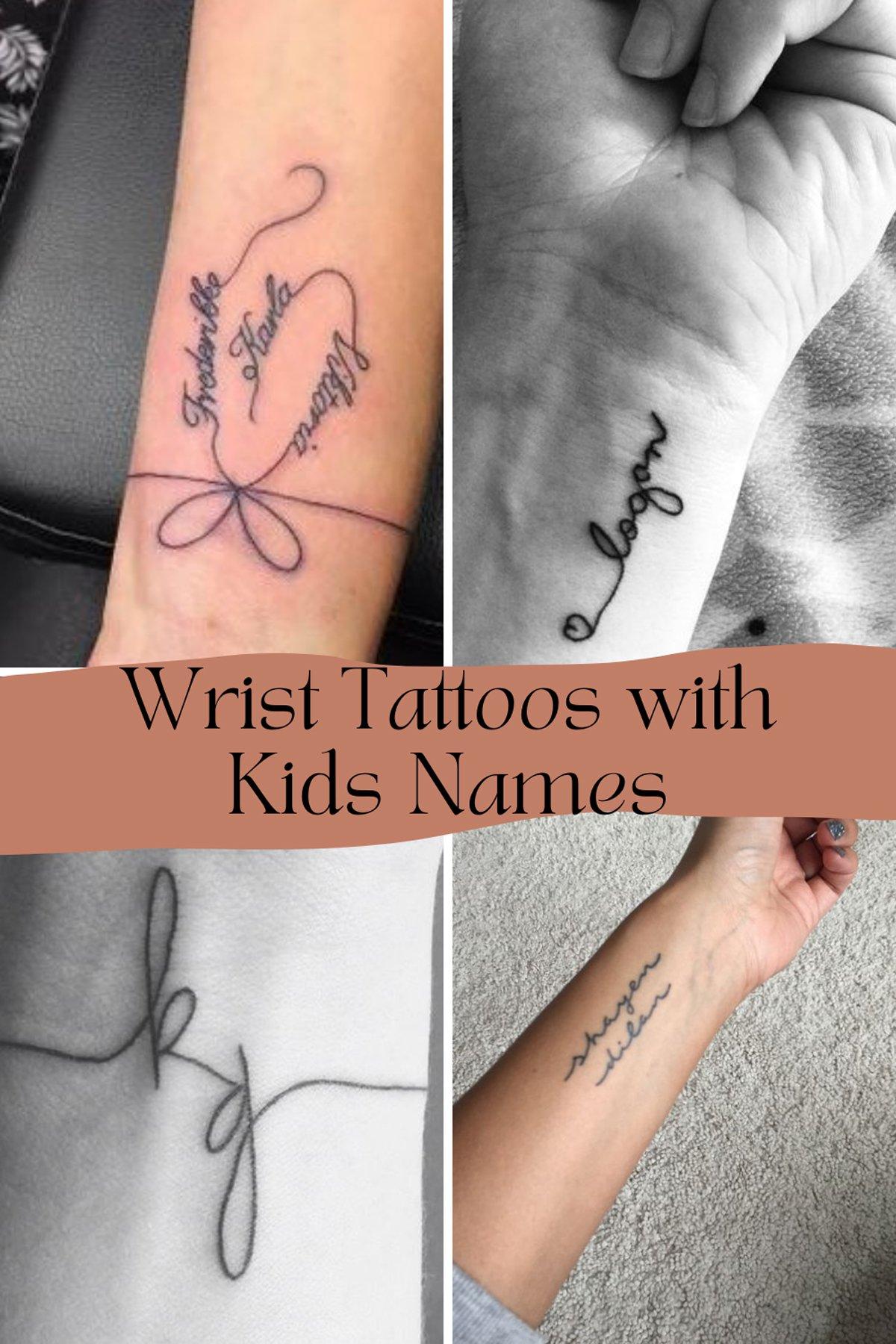 Wrist Tattoos Of Kids