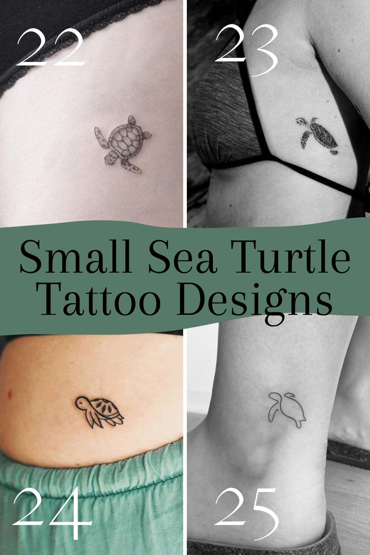 Animal Tattoos of Turtles