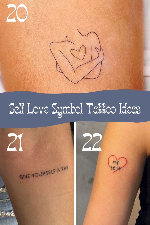 Self Love Symbols tattoo inspiration