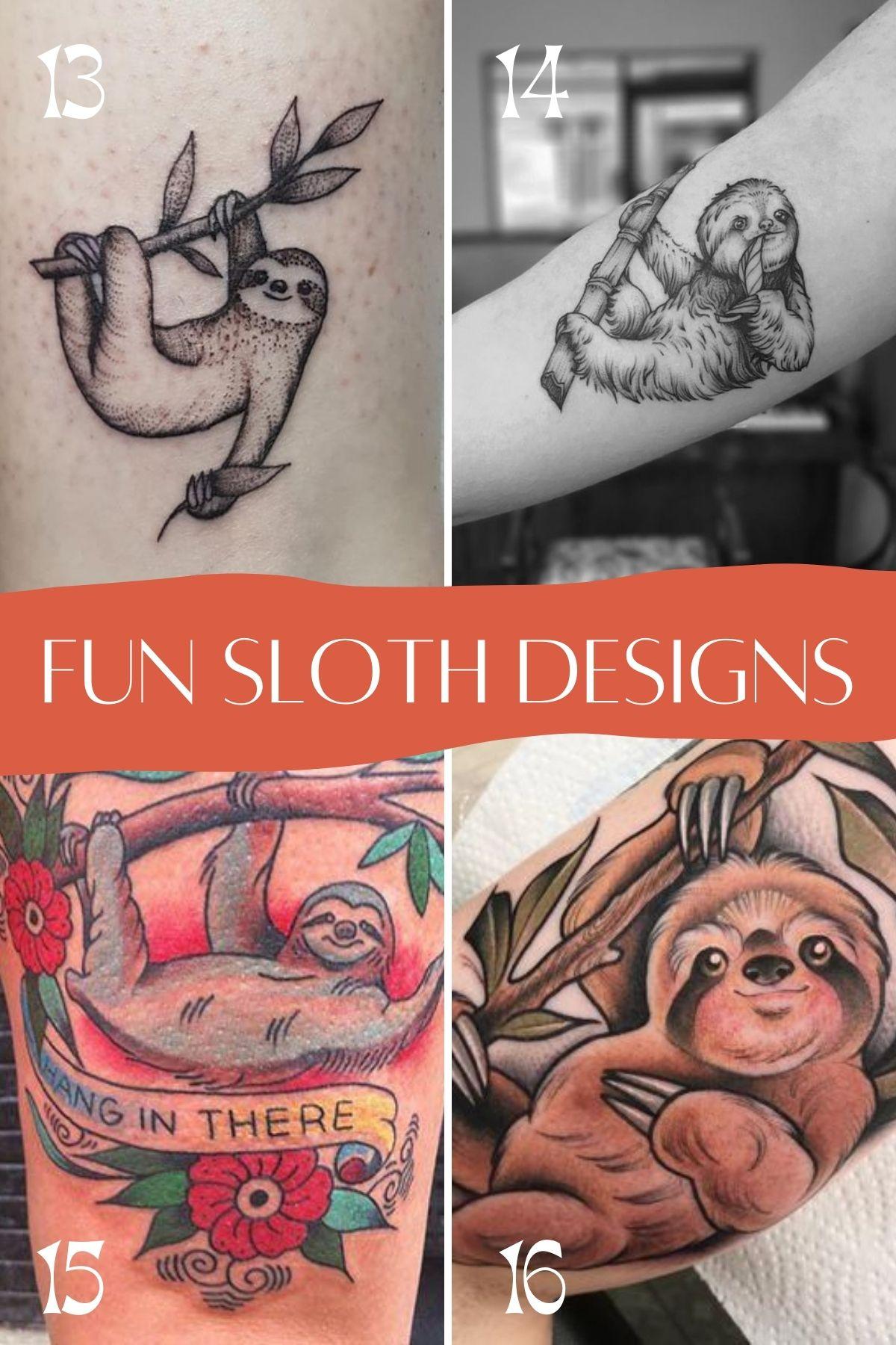 Fun Sloth Tattoo