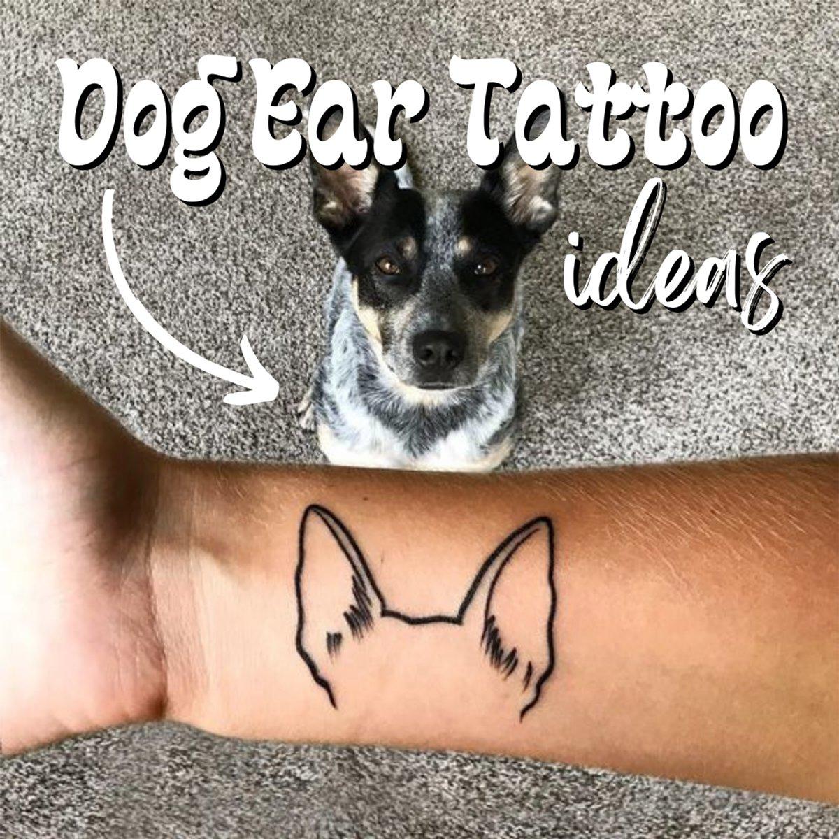 Dog Ear Tattoo