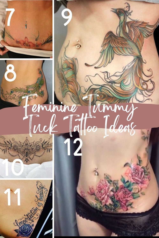 Feminine Designs For Stomach Tattoos