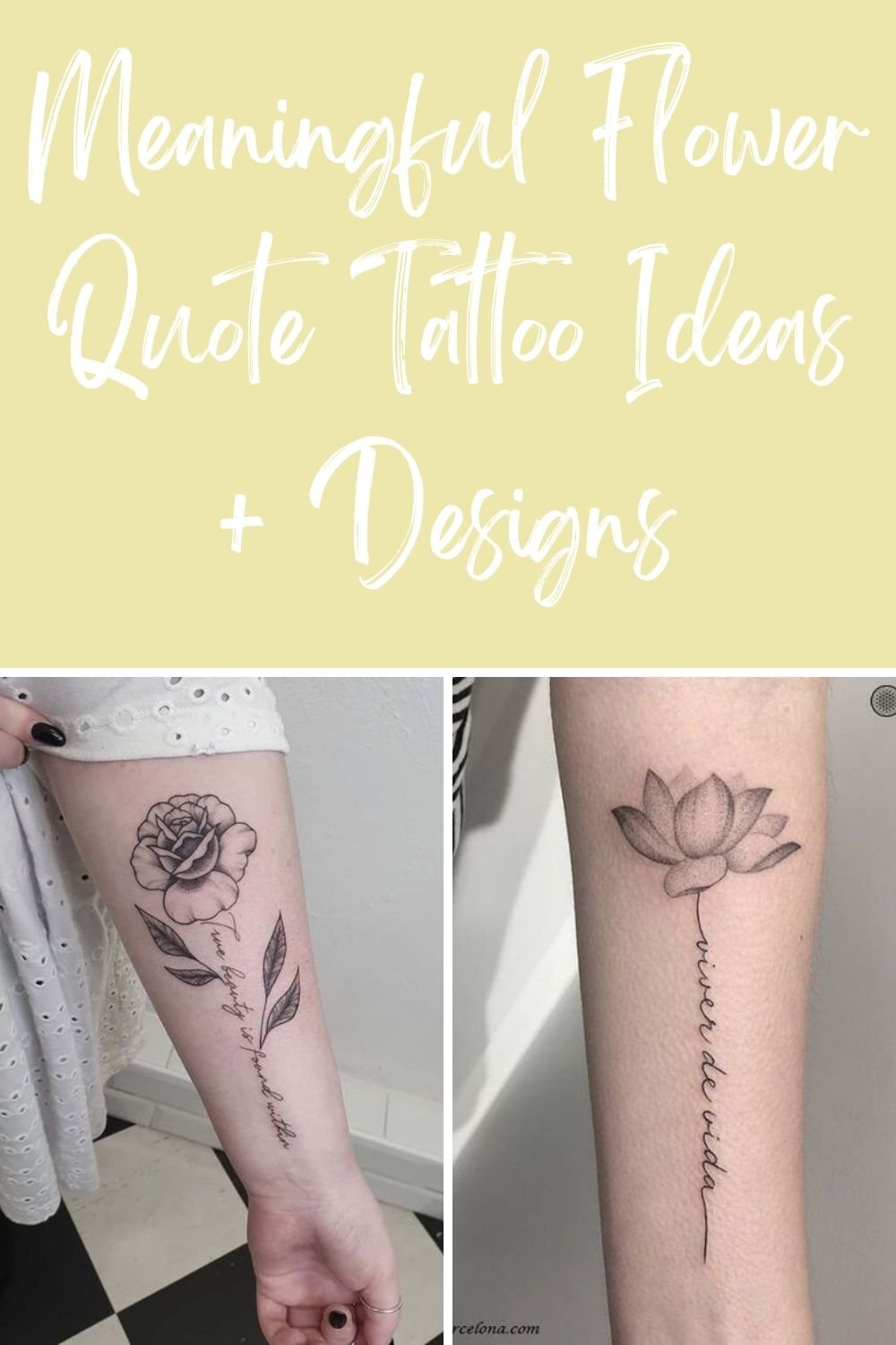 Tattoo Flower Quotes