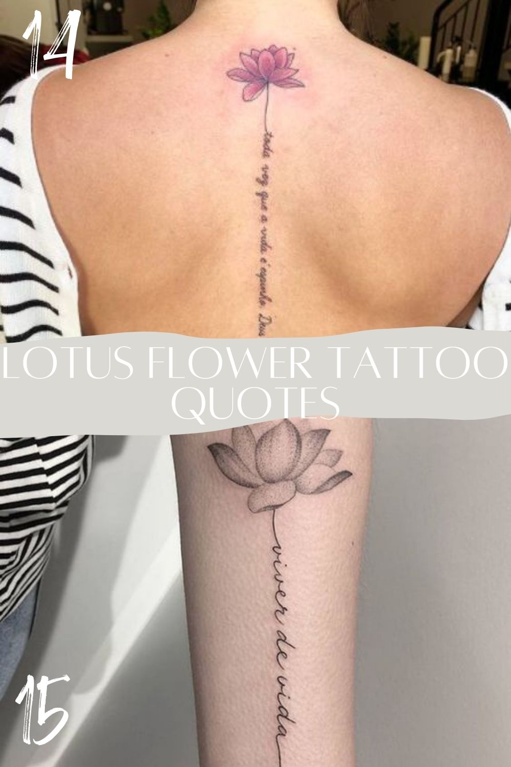 Lotus Tattoos With Words