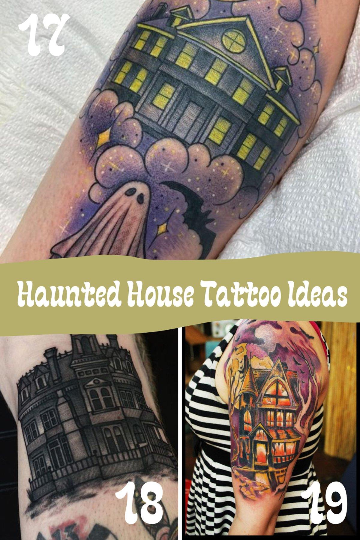 Haunted House Tattoo Ideas