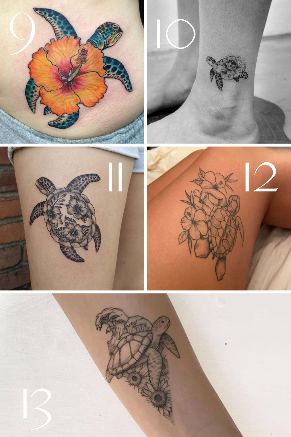 Hawaiian Sea Turtle Tattoo