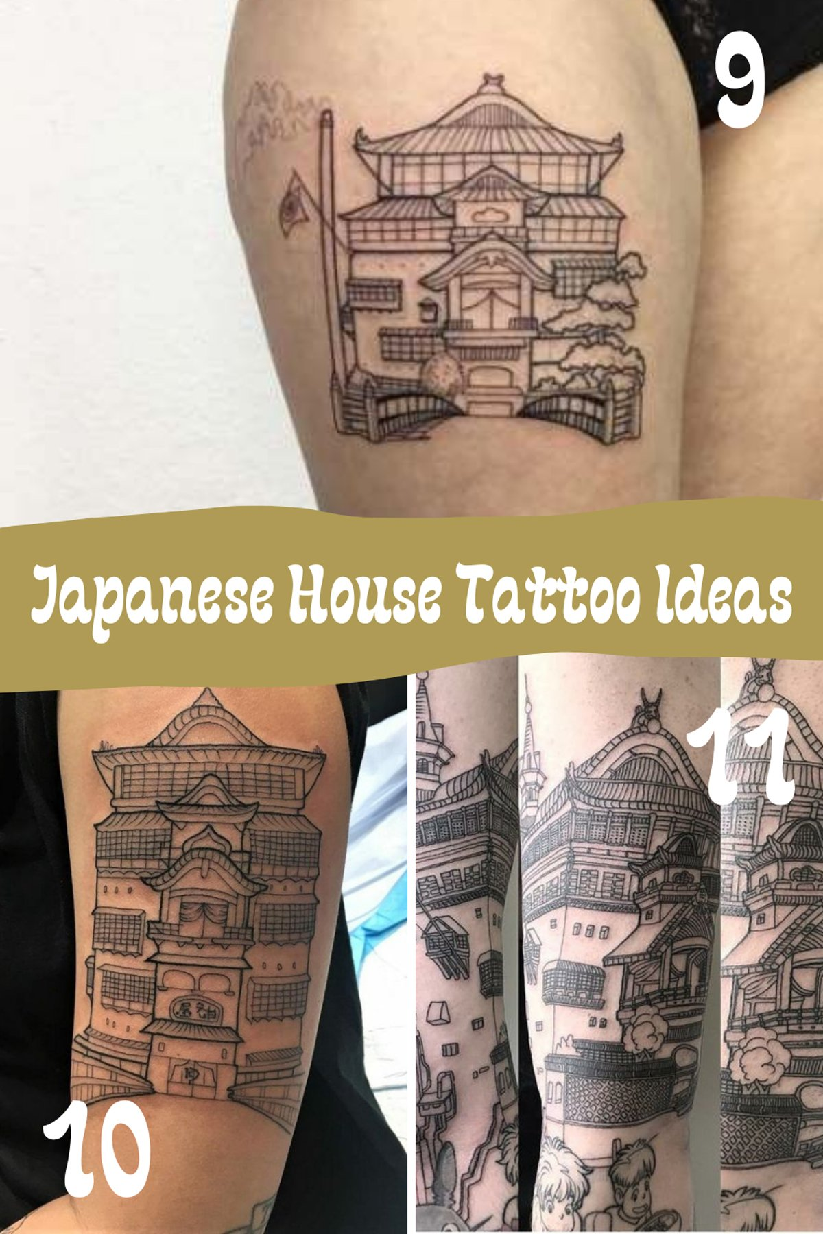 Japanese House Tattoo Ideas
