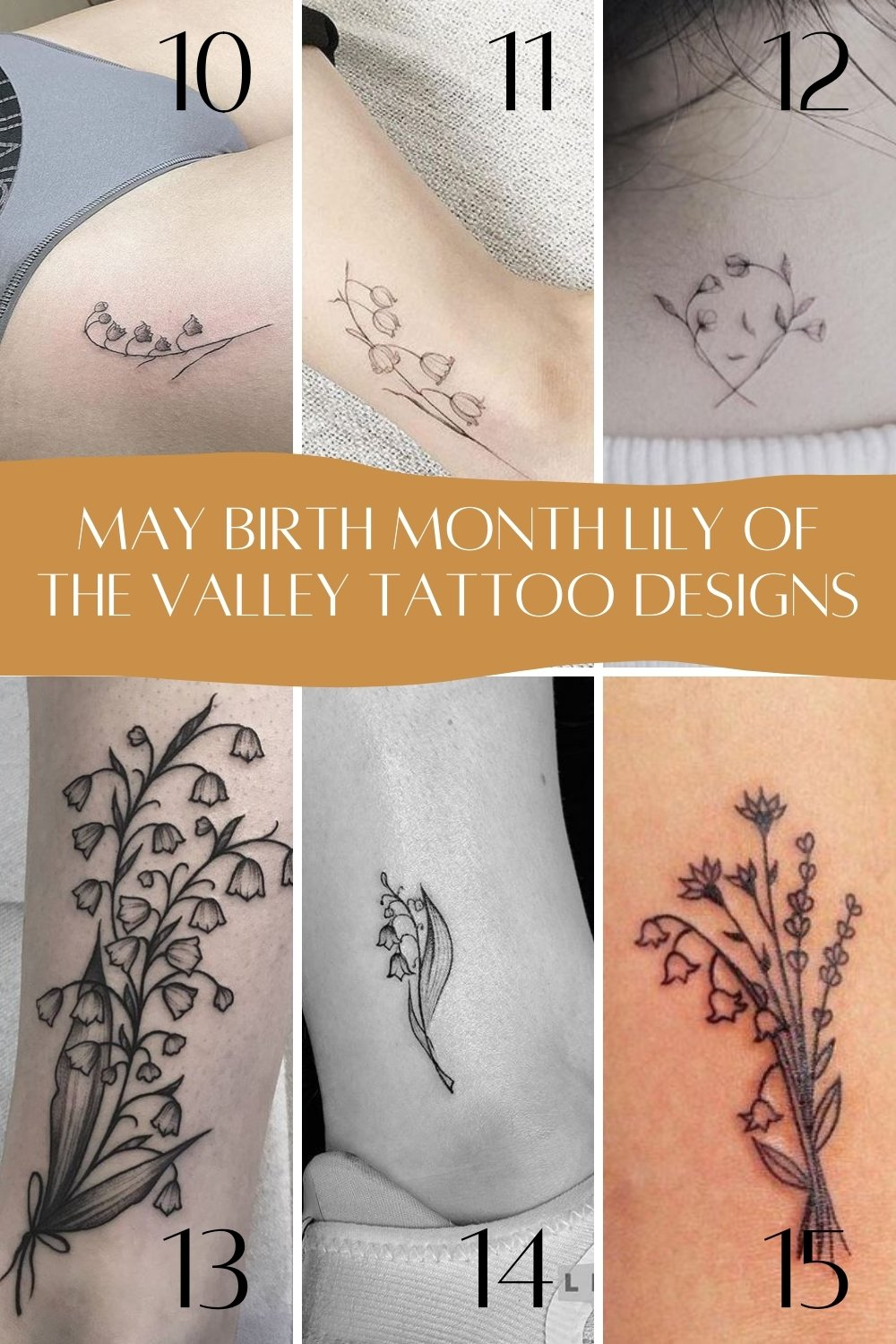 Lily of the Valley Tattoo Ideas