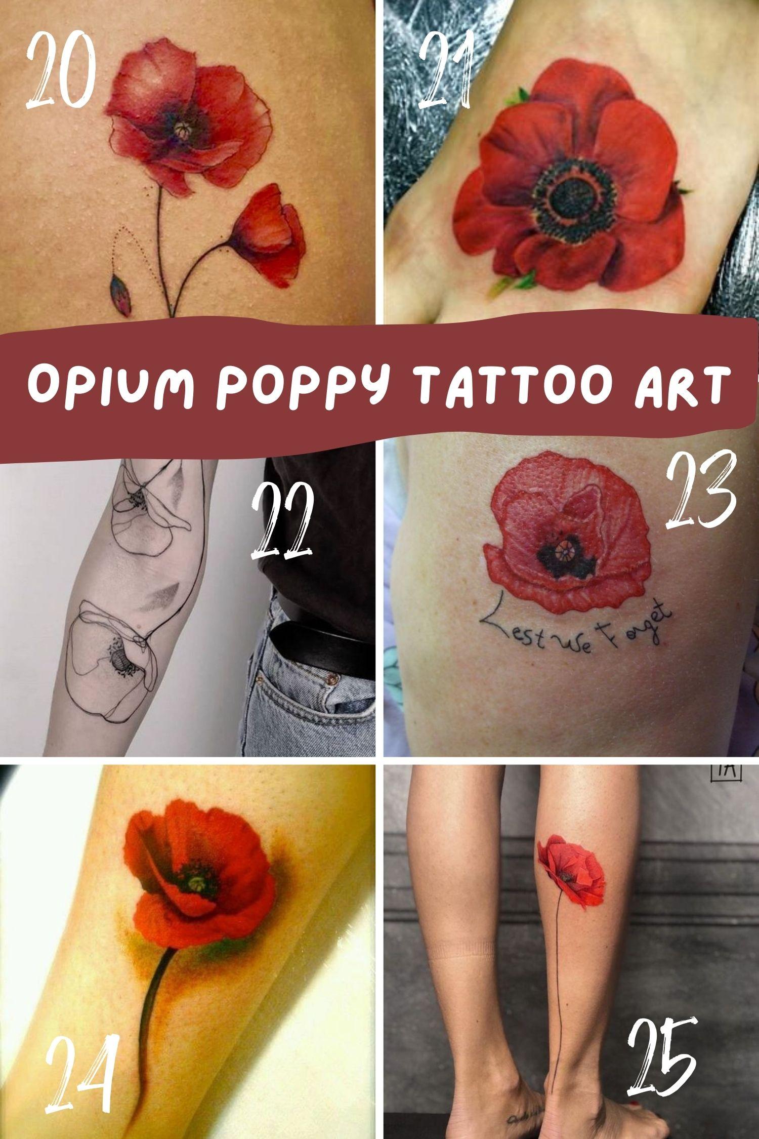 Opium Tattoo Ideas for Women