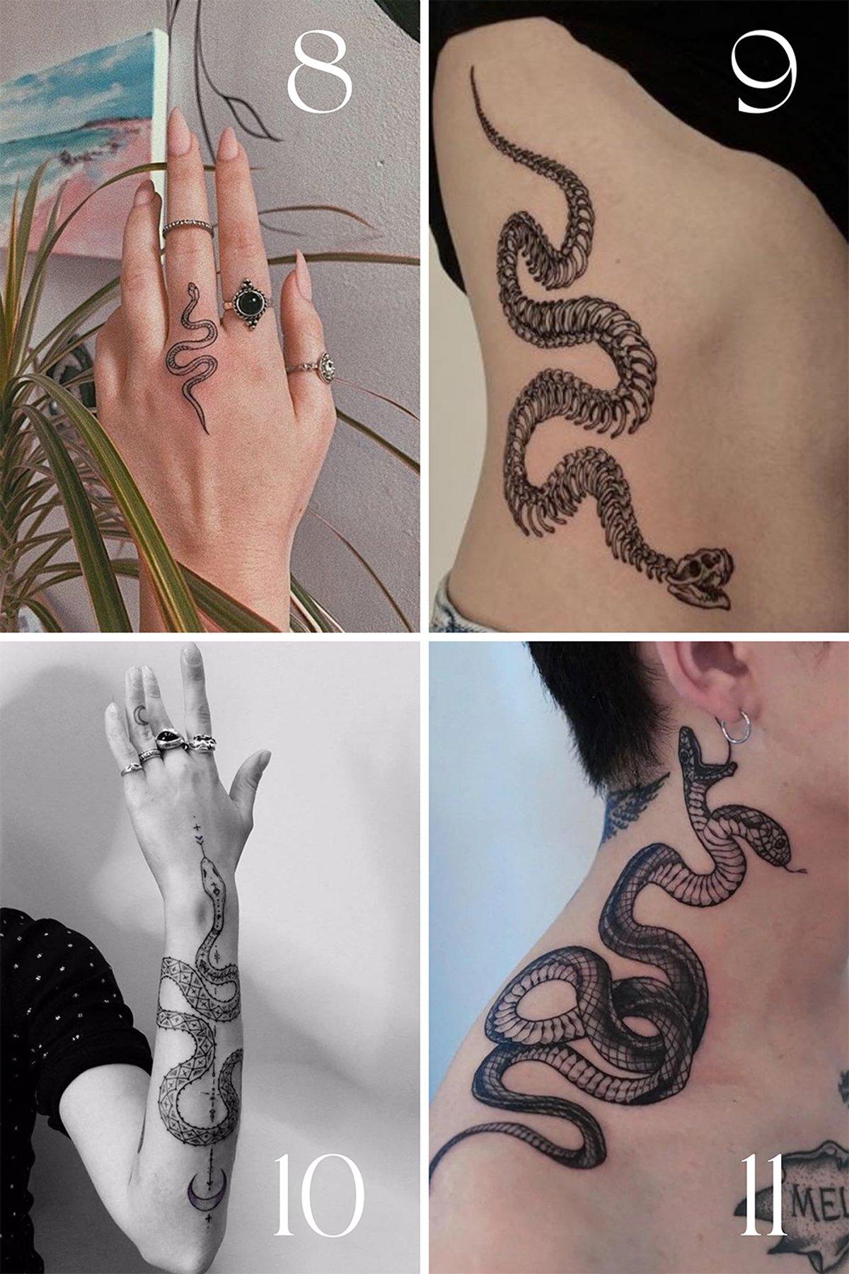 Simple Snake Tattoo Designs