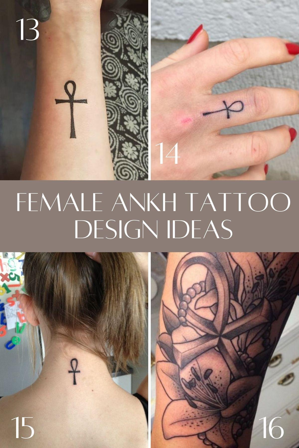 Small Ankh Tattoo Black And White
