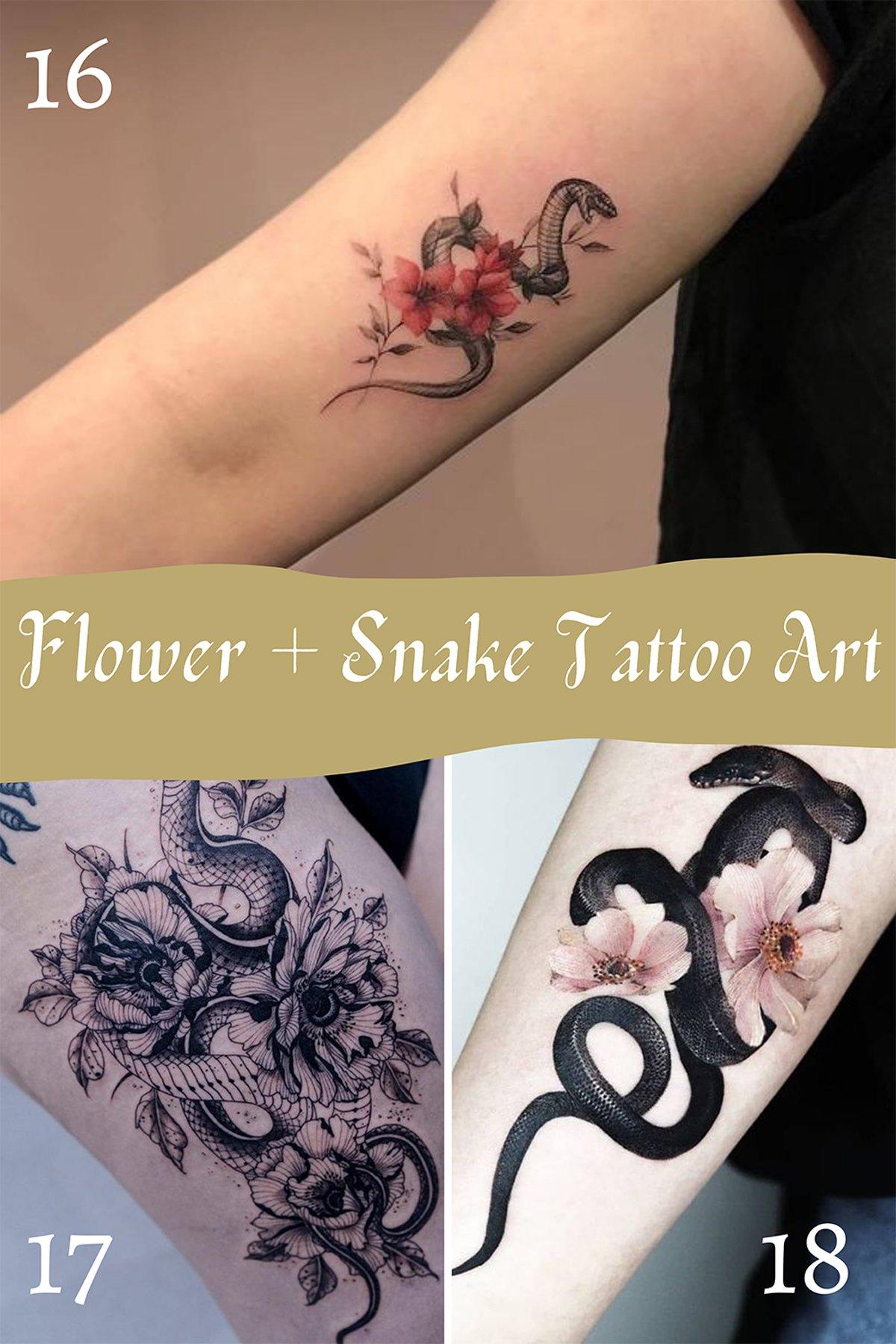 Pretty Animal Tattoos Of Snakes