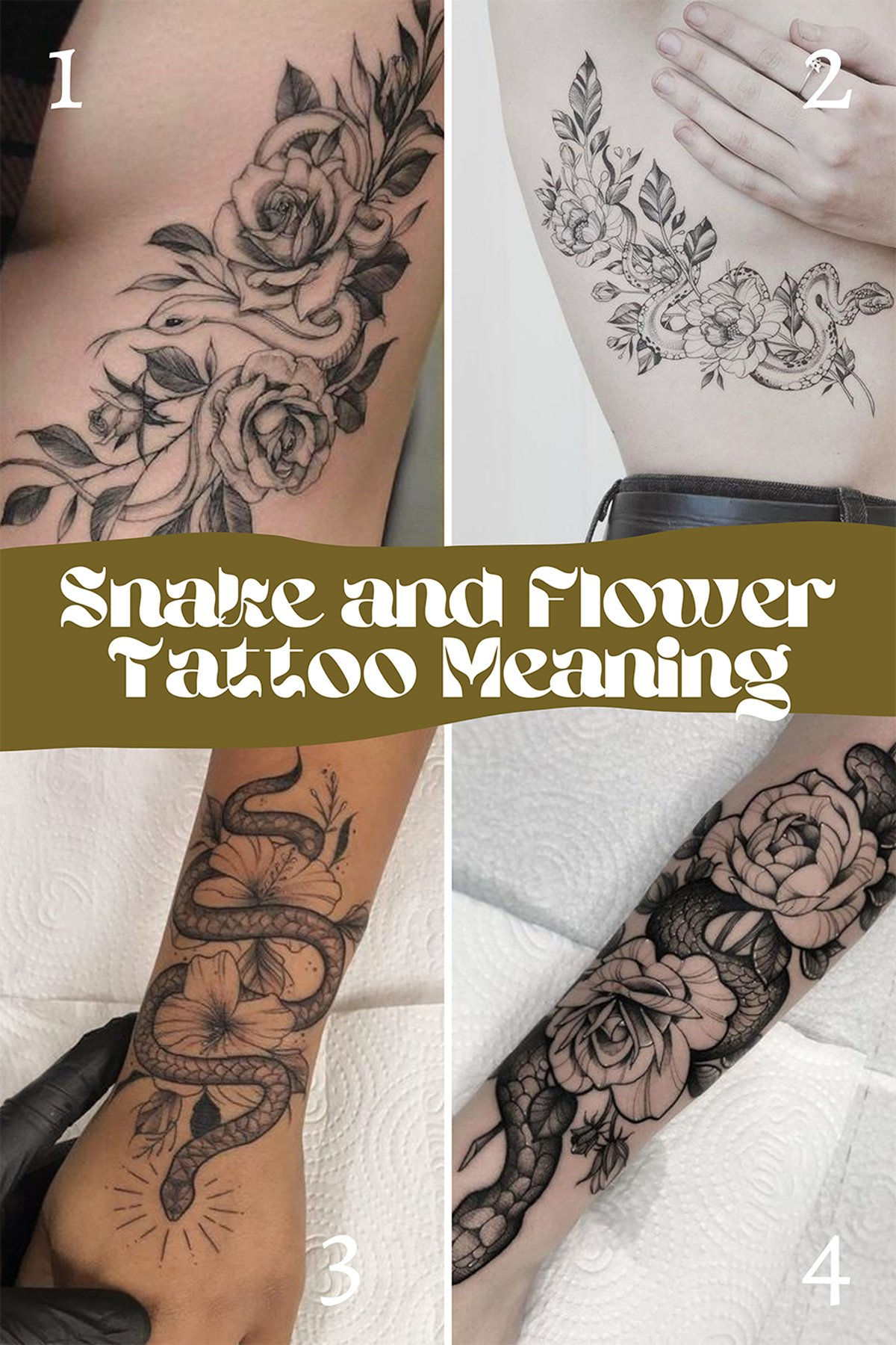 Snake and Flower Tattoo meaning