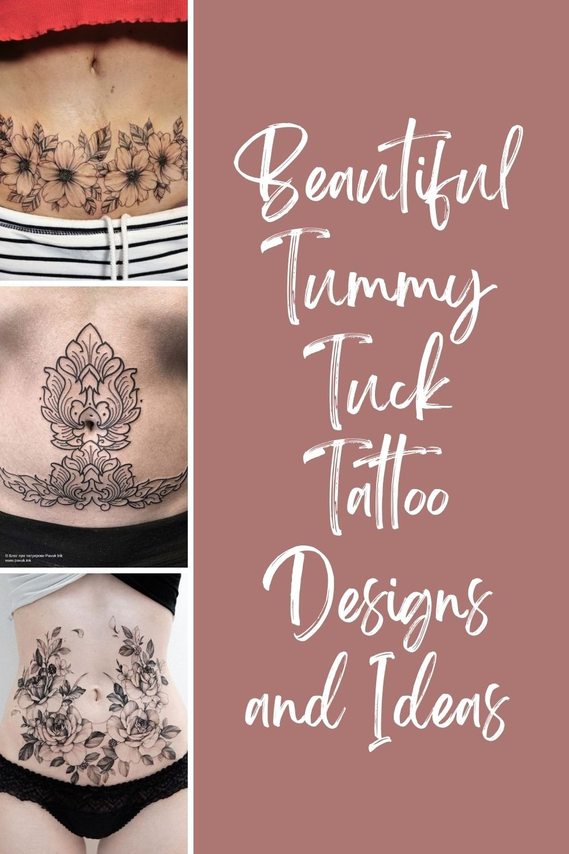 Tummy Tuck Tattoo Design
