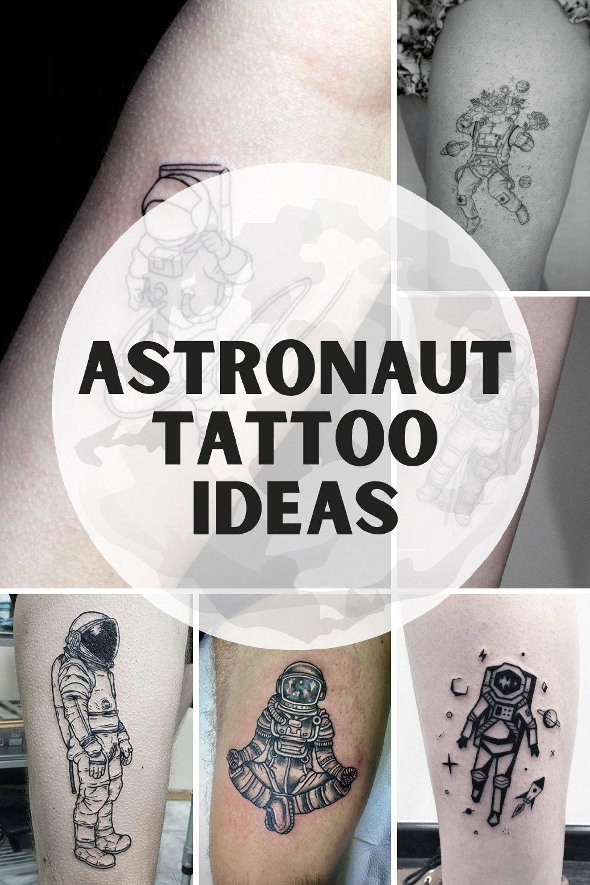 Astronaut Tattoo Ideas