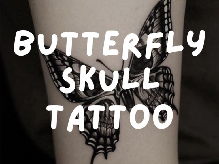 Butterfly Skull Tattoo