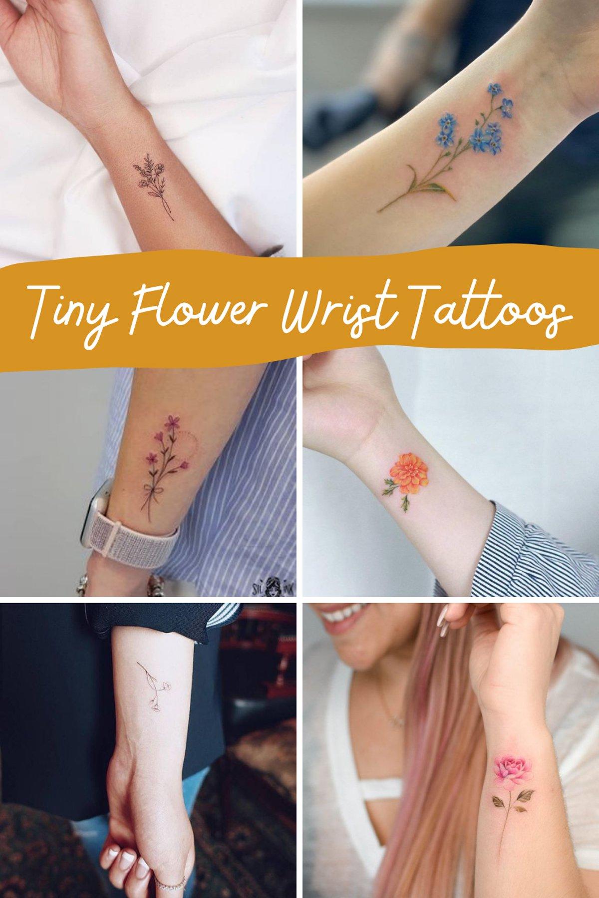 Cute Small Flower Tattoos